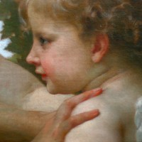 A young girl defending herself against eros - Bouguereau