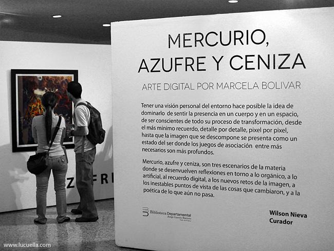 Exhibición Mercurio, Azufre y Ceniza. Biblioteca Departamental, Cali