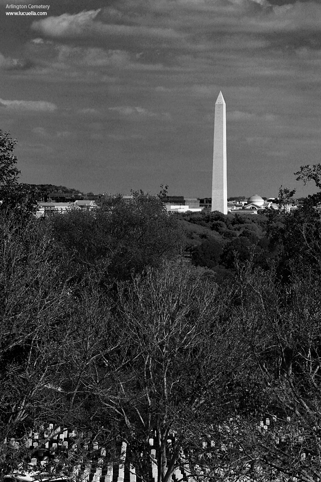 Washington Monument from the Arlington Cemetery