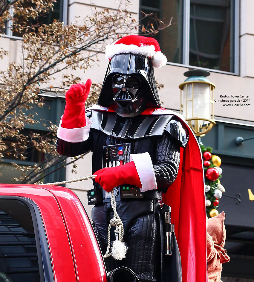 Star Wars characters in the RTC christmas parade 2014
