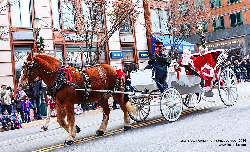 Santa Claus, Reston Town Center Christmas parade 2014
